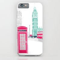 london iPhone & iPod Cases featuring London  by bluebutton studio
