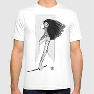 Swordgirl  Mens Fitted Tee White SMALL