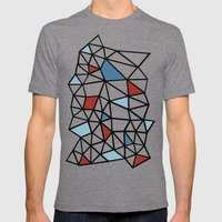 Segment Red and Blue Mens Fitted Tee Tri-Grey SMALL