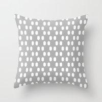 Aelbrecht Grey Pattern Throw Pillow