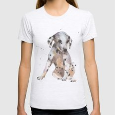 Dalmatian, Dalmatian Pup… Womens Fitted Tee Ash Grey SMALL