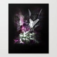 Origami attack Canvas Print