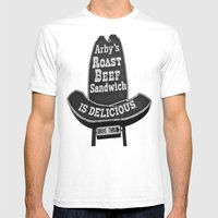 Classic Arby's Sign Mens Fitted Tee White SMALL
