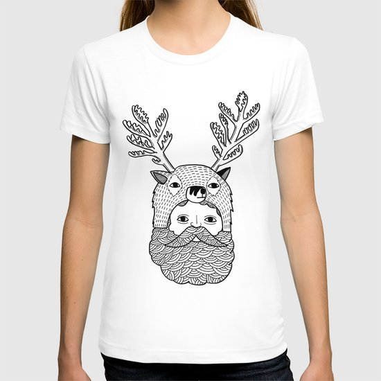 Portrait of Northern Deer Man T-shirt