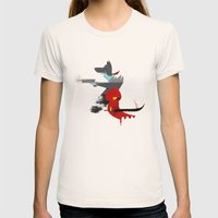 Red Hood & The Badass Wo… Womens Fitted Tee Natural SMALL