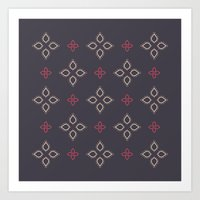 Abstract Floral Shapes Art Print