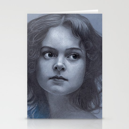 Behind greyness - pencil drawing on paperboard Stationery Card