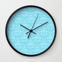 Cloud Factory Damask - L… Wall Clock