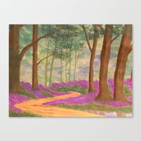 Bluebell Pathway Canvas Print