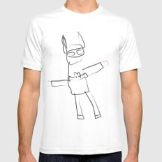 BAT MAN! Mens Fitted Tee SMALL White