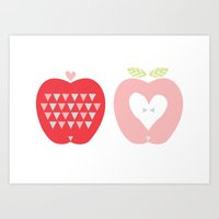Two Apples Art Print
