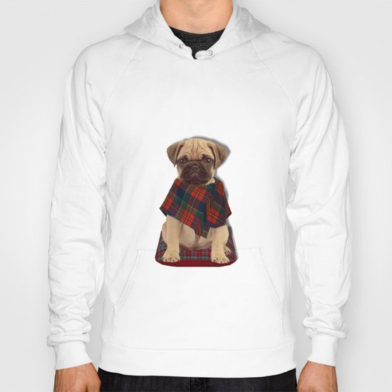 The Plaid Poncho'ed Pug Hoody