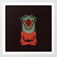 Wildlife - Crocodile Art Print