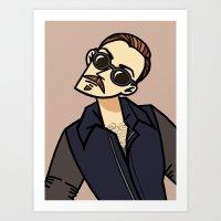 bonus file. the man Art Print
