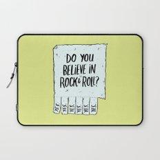 Believe in Rock & Roll Laptop Sleeve