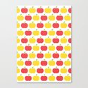The Essential Patterns of Childhood - Apple Canvas Print