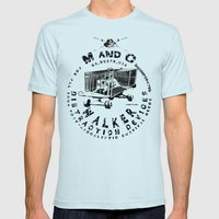 M and C incorporated Mens Fitted Tee Light Blue SMALL