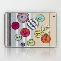 Embroidered Button Illustration Laptop & iPad Skin