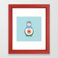 MATRYOSHKAS SERIES - LARISA Framed Art Print