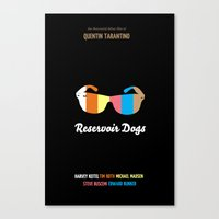 Minimal Reservoir Dogs Poster Canvas Print