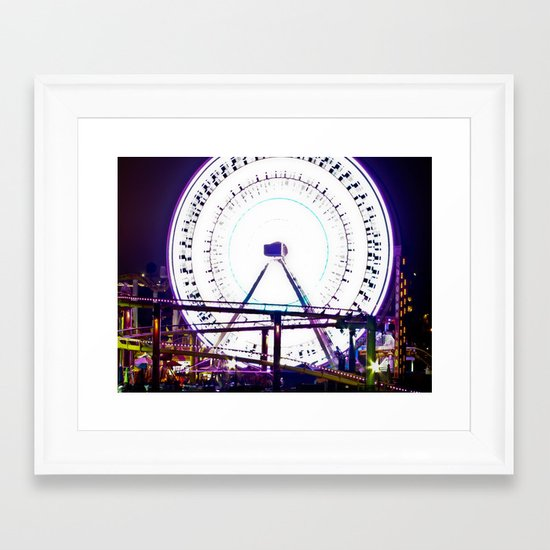 Ferris Wheel of Lights Framed Art Print