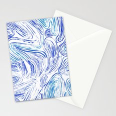 Lines of Waves Stationery Cards