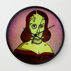Prophets of Fiction - Mary Shelley /Frankenstein Wall Clock