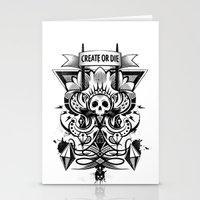 Create or Die Stationery Cards