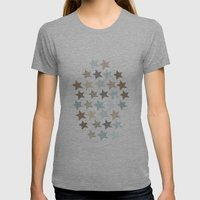 Stars Womens Fitted Tee Athletic Grey SMALL