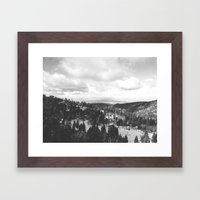 Mountains and Desert view Framed Art Print
