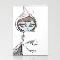 mrs wolf Stationery Cards