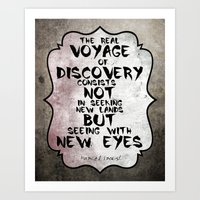 Marcel Proust About Voya… Art Print