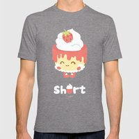 Strawberry Short Cake Mens Fitted Tee Tri-Grey SMALL