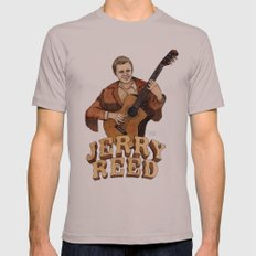 Jerry Reed Mens Fitted Tee Cinder SMALL
