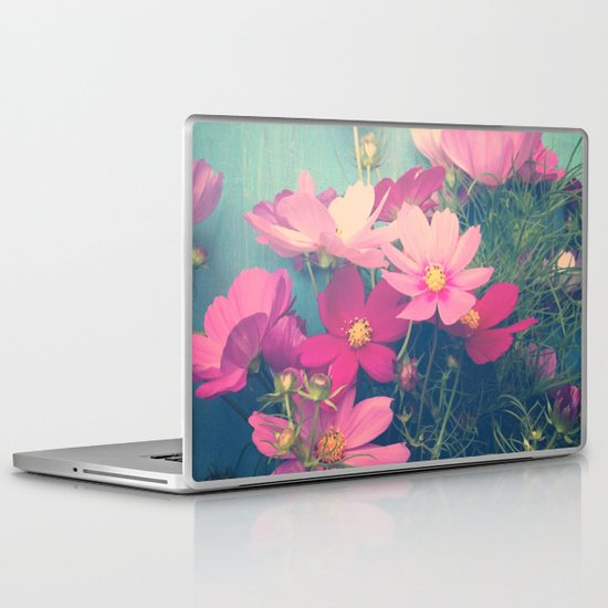 Pink Cosmos Laptop & iPad Skin
