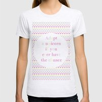 Adopt a Unicorn Womens Fitted Tee Ash Grey SMALL