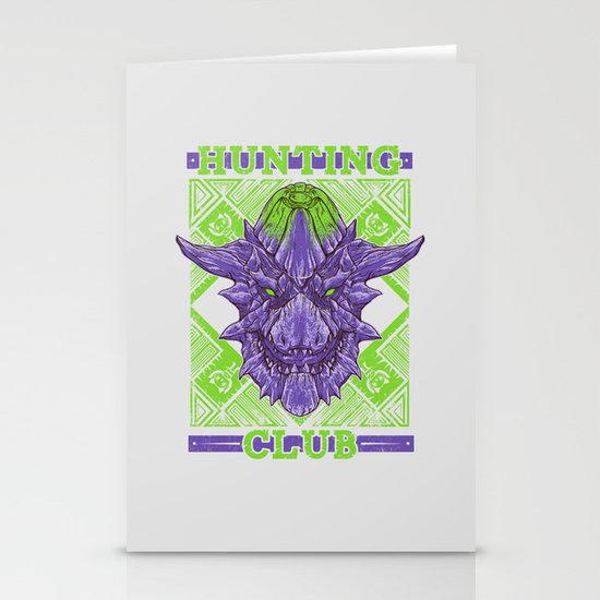 Hunting Club: Brachydios Stationery Card