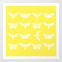 Yellow Moth's; Art Print