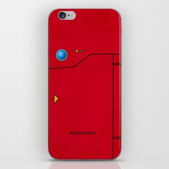 Dexter the Pokedex - Minimalism Pokemon Poster iPhone & iPod Skin
