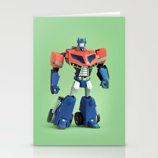 Optimus Prime (Animated) Stationery Card