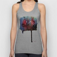 Little Nebula Watercolor Unisex Tank Top