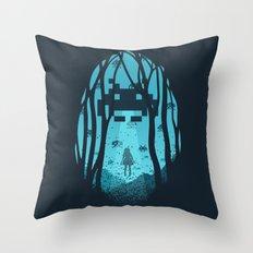 8 Bit Invasion Throw Pillow