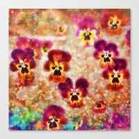 Spring Pansies Canvas Print