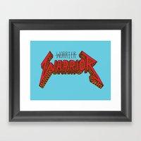 Warrior Not Worrier Framed Art Print