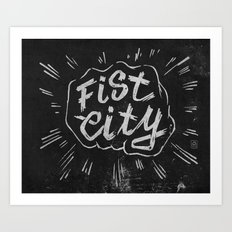 Fist City Art Print