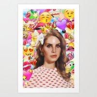 LANA DEL EMOJI Art Print
