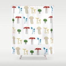 Mushroom Pattern  Shower Curtain