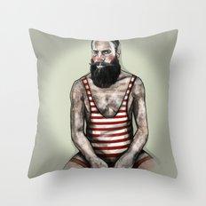 Cirque_Weightlifter Throw Pillow