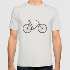 I ♥ BIKES Mens Fitted Tee Silver SMALL