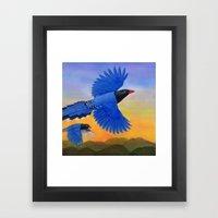 Taiwan Blue Magpie(1) Framed Art Print
